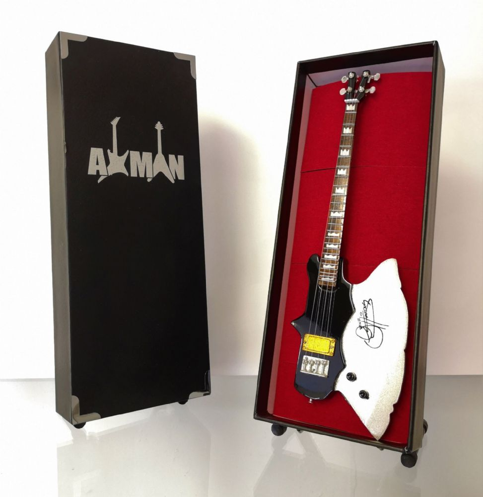 (Kiss) Gene Simmons: Kramer Axe Bass - Miniature Guitar Replica (UK Seller)